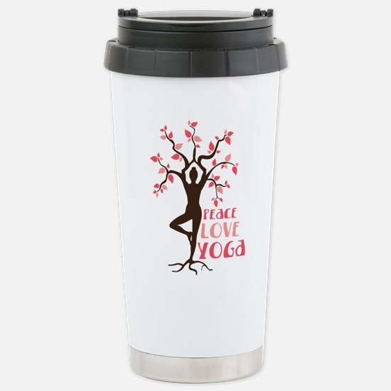 PEACE LOVE YOGA Travel Mug