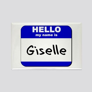 hello my name is giselle Rectangle Magnet