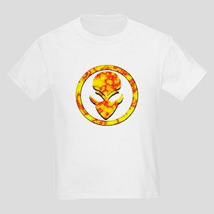 Red N Yellow Alien Face Kids Light T-Shirt