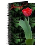 Green and Red Tulip Journal