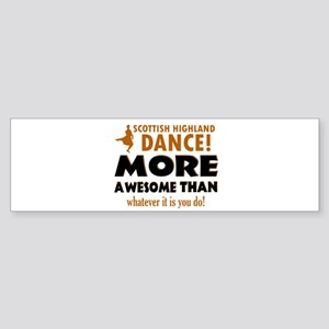 Scottish highland dance is awesome Sticker (Bumper