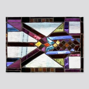 Fortify Stained Glass Panel 5'x7'Area Rug
