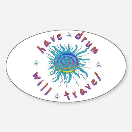 Have Drum Will Travel Oval Decal