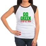 Go Green, Stop at Red Women's Cap Sleeve T-Shirt