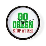 Go Green, Stop at Red Wall Clock