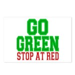 Go Green, Stop at Red Postcards (Package of 8)
