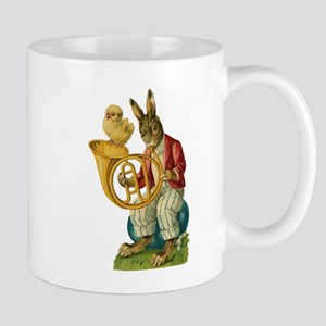 Vintage Easter Bunny French Horn Mugs