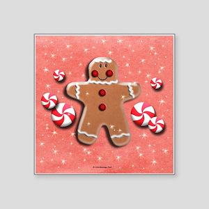 Gingerbread Man Cookie Candies Sticker