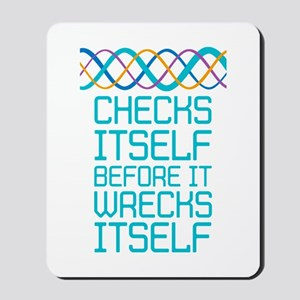 DNA Checks Itself Mousepad
