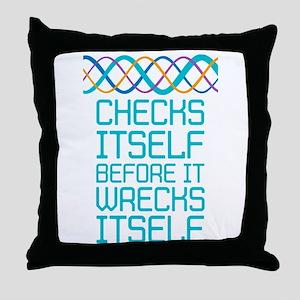DNA Checks Itself Throw Pillow
