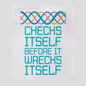 DNA Checks Itself Throw Blanket