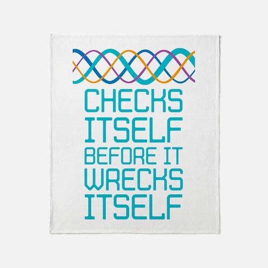 DNA Checks Itself Throw Blanket