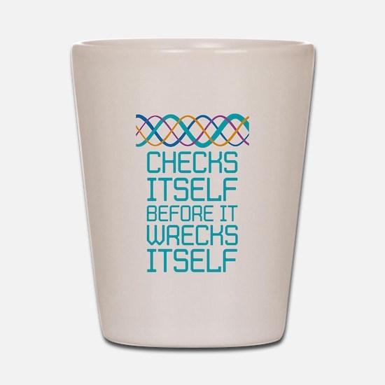 DNA Checks Itself Shot Glass