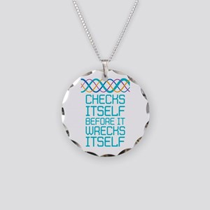 DNA Checks Itself Necklace