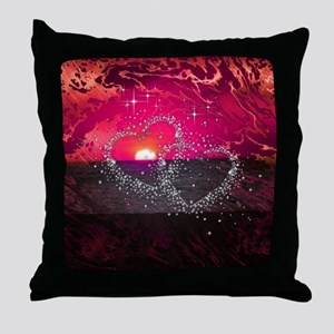 romantic night red Throw Pillow