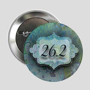 """26.2, Marathon by Vetro Jewelry & Des 2.25"""" Button"""