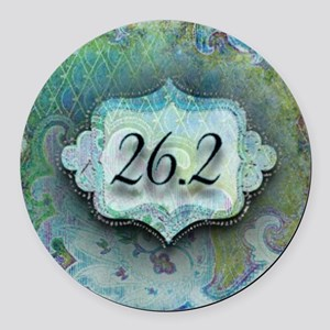 26.2, Marathon by Vetro Jewelry & Round Car Magnet