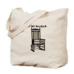 OFF MY ROCKER-1-TAN Tote Bag