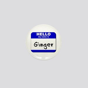 hello my name is ginger Mini Button