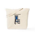 OFF MY ROCKER-1-BLUE Tote Bag
