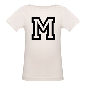 754914ddea1d Letter M Organic Baby T-Shirts - CafePress