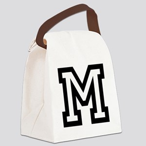 Personalized Monogram M Canvas Lunch Bag