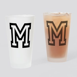 Personalized Monogram M Drinking Glass