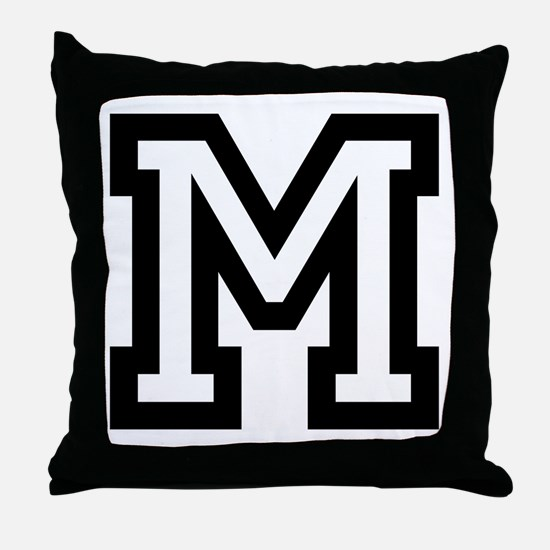 Personalized Monogram Block Letter Throw Pillow