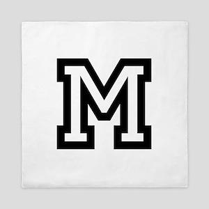 Personalized Monogram M Queen Duvet