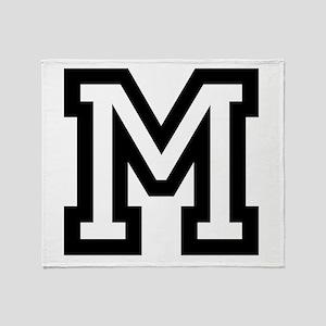 Personalized Monogram M Throw Blanket