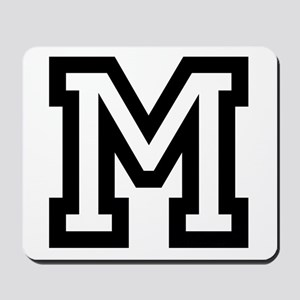 Personalized Monogram M Mousepad