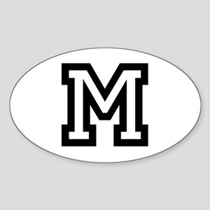 Personalized Monogram M Sticker