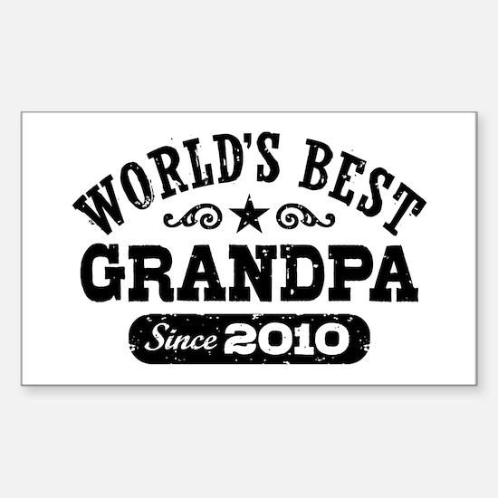 World's Best Grandpa Since 2010 Decal