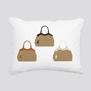 Designer handbags Rectangular Canvas Pillow