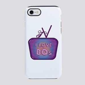 I Love 80's TV iPhone 7 Tough Case