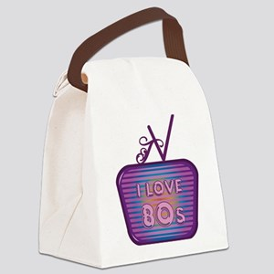 I Love 80's TV Canvas Lunch Bag