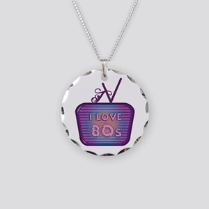 I Love 80's TV Necklace