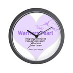 Warriors Pearl Wall Clock