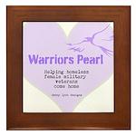 Warriors Pearl Framed Tile