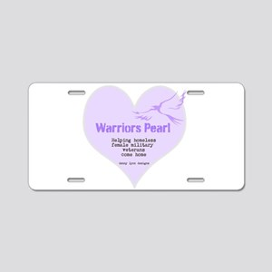 Warriors Pearl Aluminum License Plate