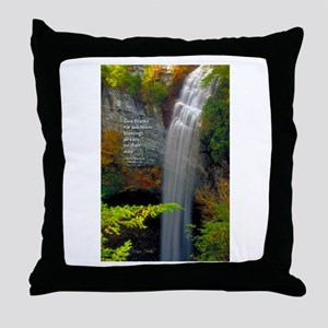 Waterfall Blessings Throw Pillow