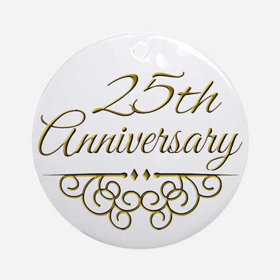 25th Anniversary Ornament (Round)