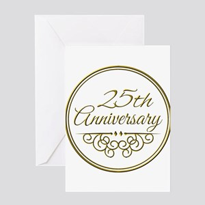 25th Anniversary Greeting Cards