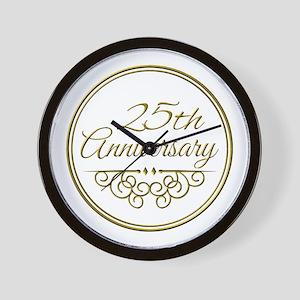 25th Anniversary Wall Clock