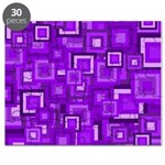 Purple Retro Squares Pattern Puzzle