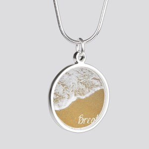 Just Breathe... Silver Round Necklace