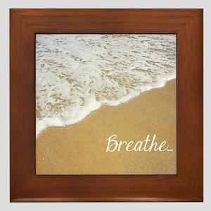 Just Breathe... Framed Tile