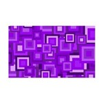 Purple Retro Squares Pattern Wall Decal