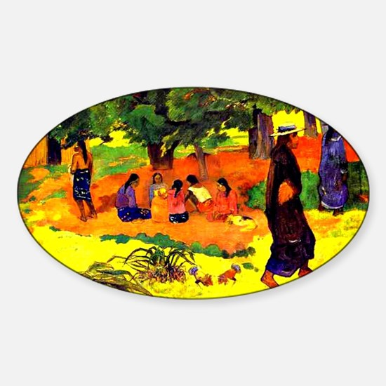 Gauguin - Taperaa Mahana, Paul Gaug Sticker (Oval)