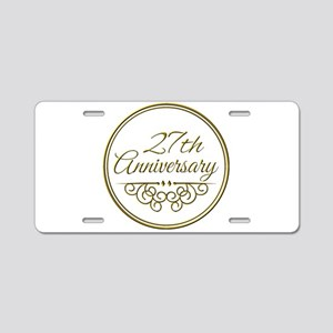 27th Anniversary Aluminum License Plate